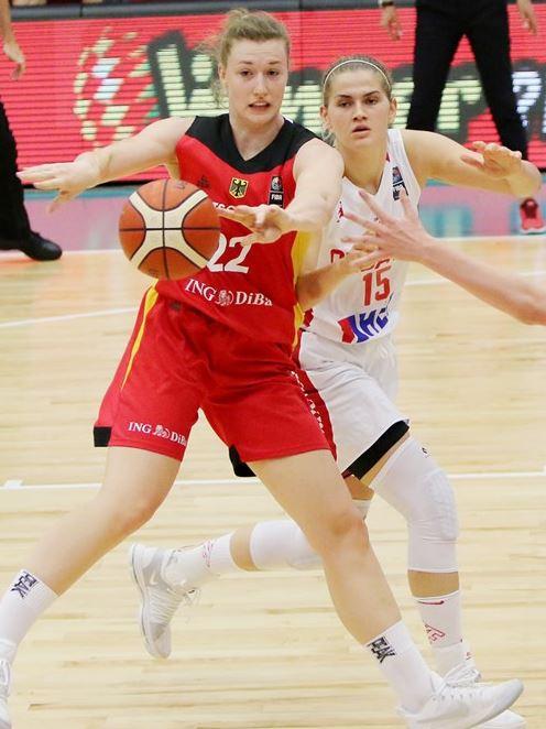 Andrea Marić na utakmici protiv Njemačke /fiba.com